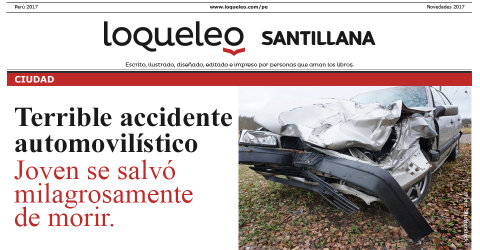 Terrible accidente automovilístico
