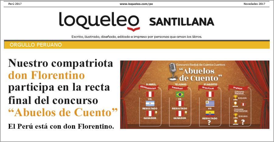 """Nuestro compatriota don Florentino participa en la recta final del concurso """"Abuelos de Cuento"""""""