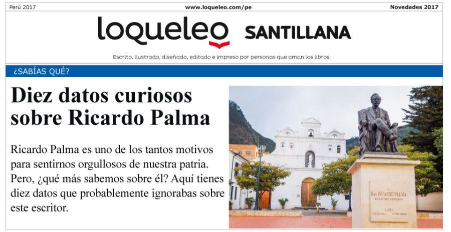 10 datos curiosos sobre Ricardo Palma
