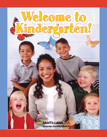 Cover Welcome to Kindergarten!
